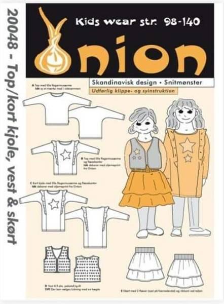 Bilde av Topp, vest og skjørt 2-10 år - Onion
