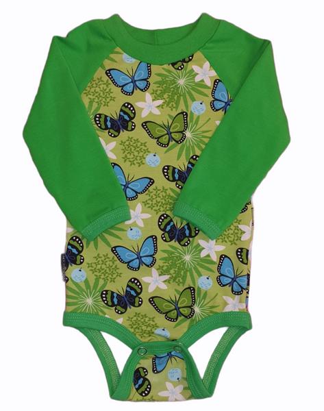 Bilde av Body - Grønn med sommerfugler